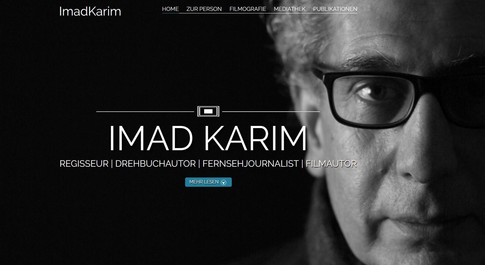 Screenshot persönliche Website von Imad Karim