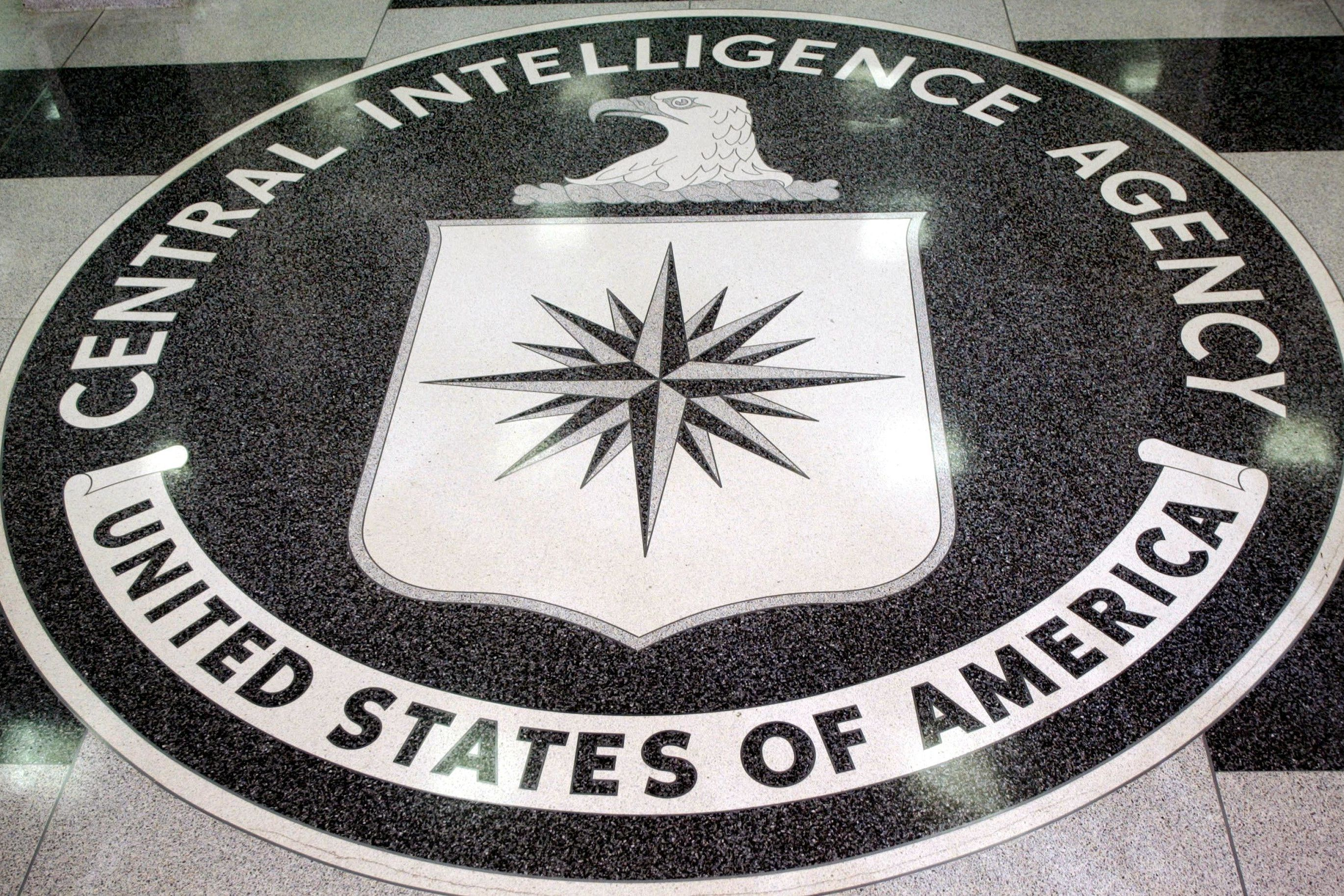FILE PHOTO: The logo of the U.S. Central Intelligence Agency is shown in the lobby of the CIA headquarters in Langley.